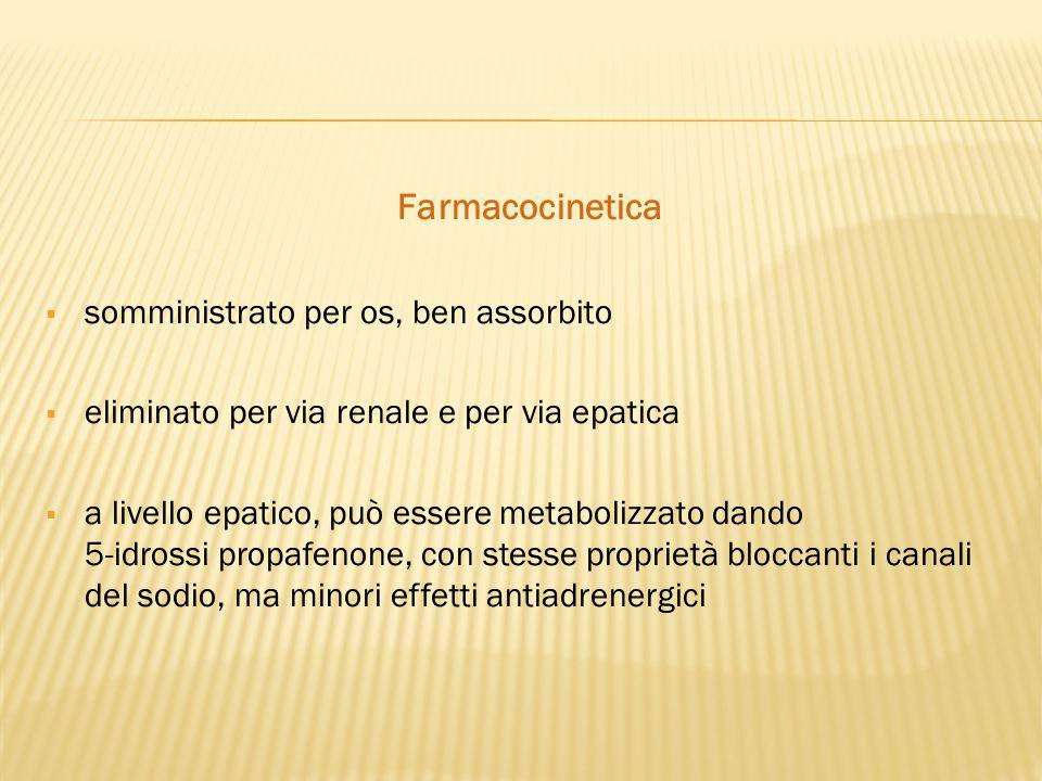 Farmacocinetica somministrato per os, ben assorbito