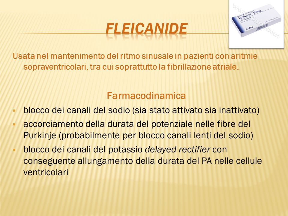fleicanide Farmacodinamica