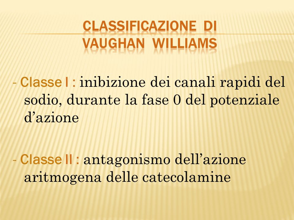 Classificazione di Vaughan Williams