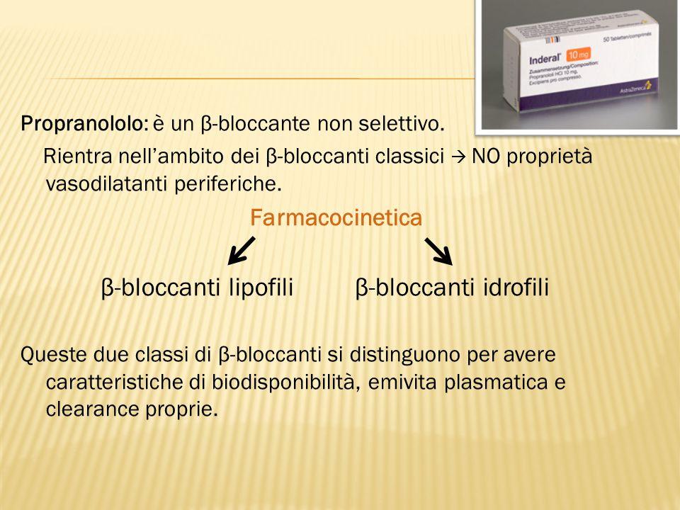 β-bloccanti lipofili β-bloccanti idrofili