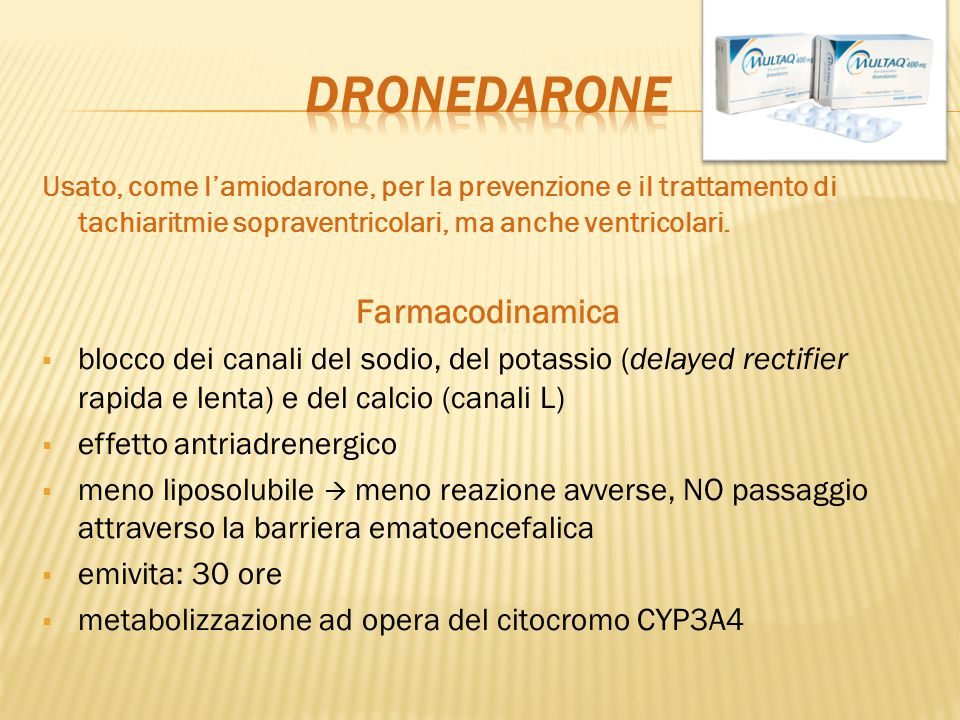 Dronedarone Farmacodinamica