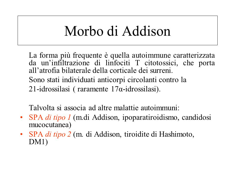 Morbo di Addison