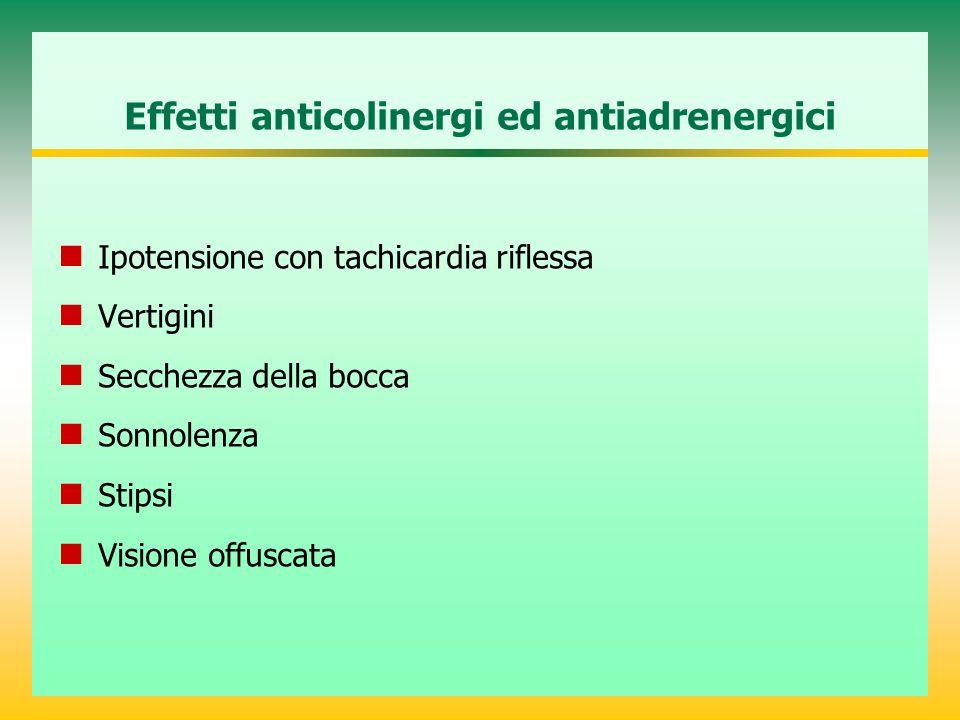 Effetti anticolinergi ed antiadrenergici