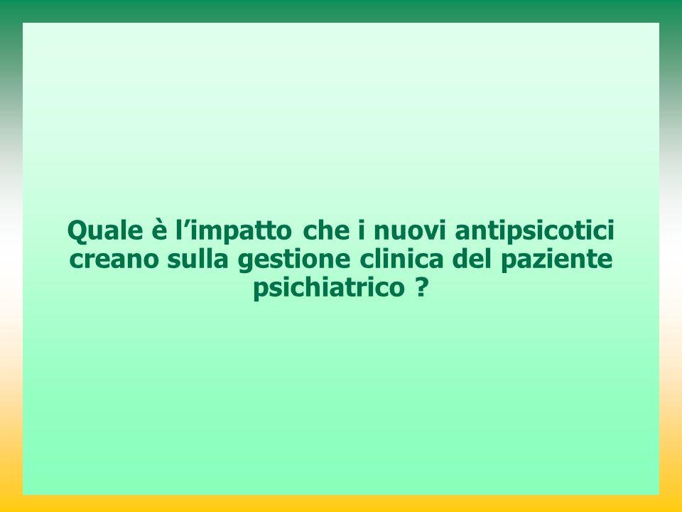 Quale è l'impatto che i nuovi antipsicotici creano sulla gestione clinica del paziente psichiatrico
