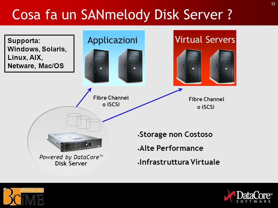 Cosa fa un SANmelody Disk Server