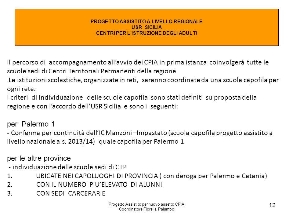 - individuazione delle scuole sedi di CTP
