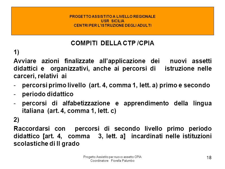 COMPITI DELLA CTP /CPIA