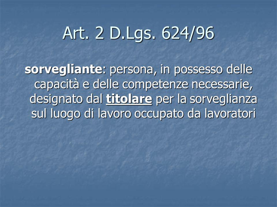 Art. 2 D.Lgs. 624/96