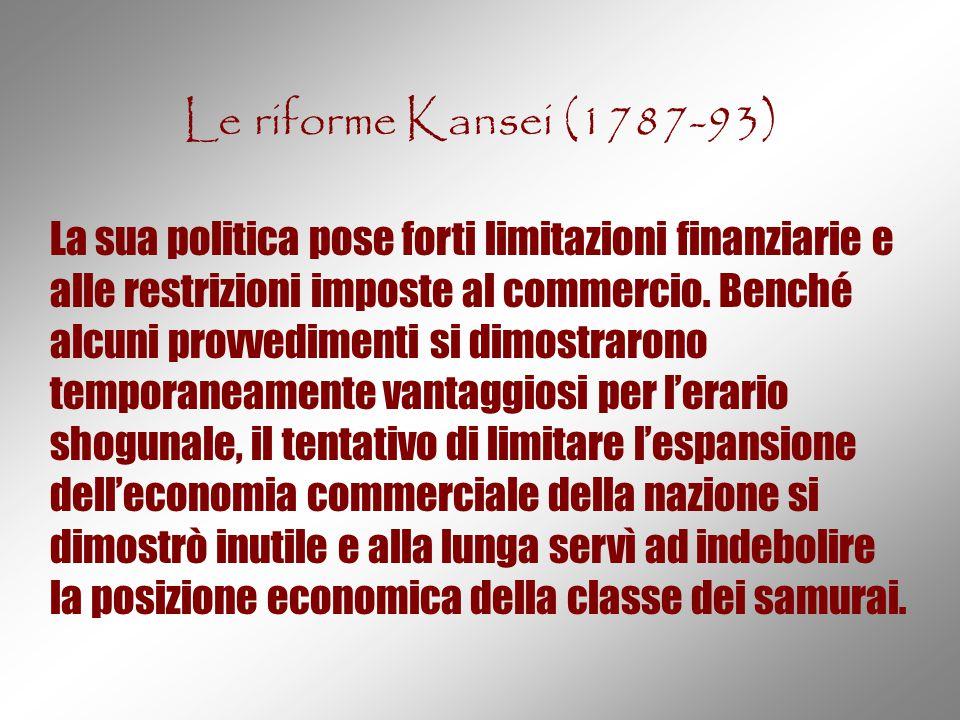 Le riforme Kansei (1787-93)