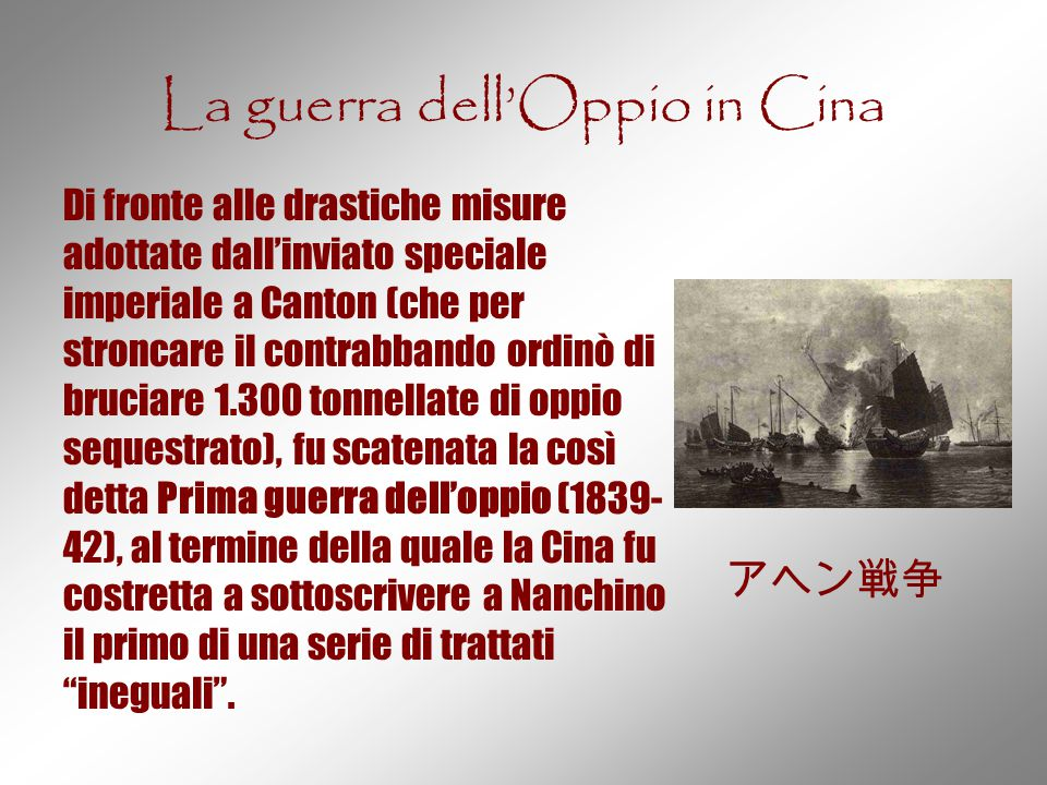 La guerra dell'Oppio in Cina