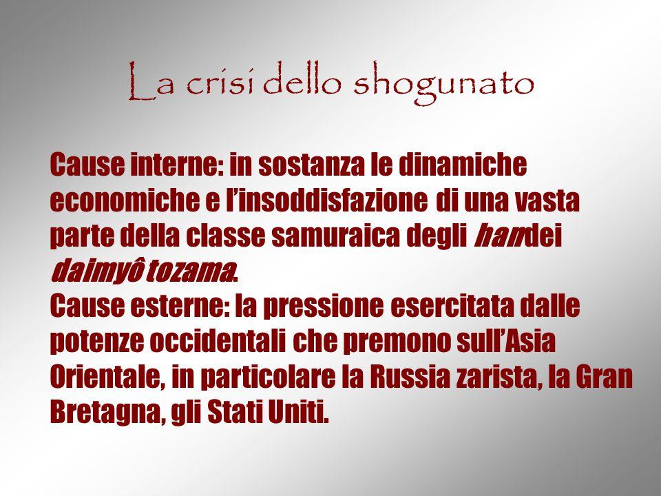 La crisi dello shogunato