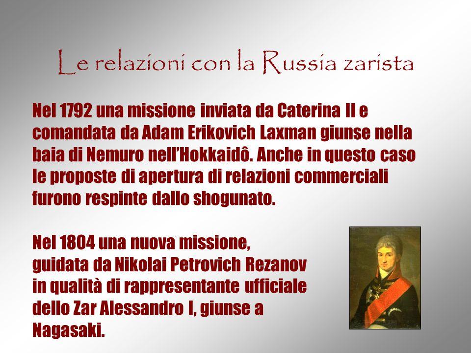 Le relazioni con la Russia zarista