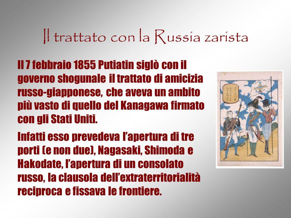 Il trattato con la Russia zarista