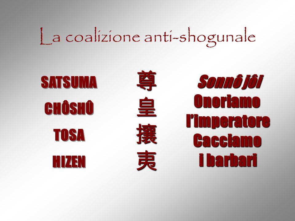 La coalizione anti-shogunale