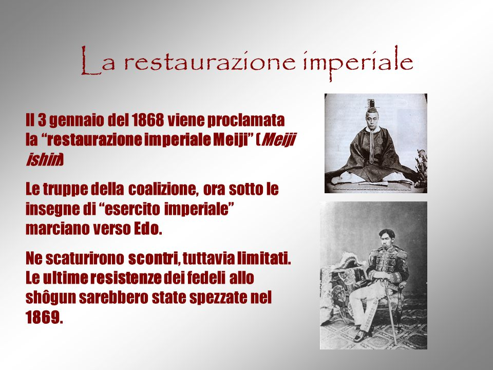 La restaurazione imperiale