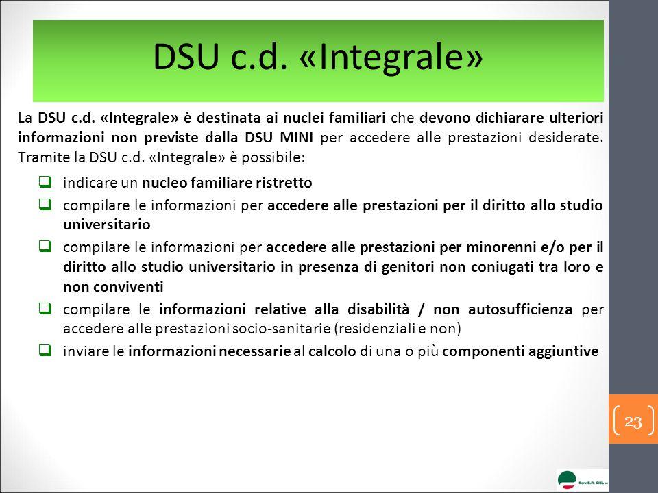 DSU c.d. «Integrale»