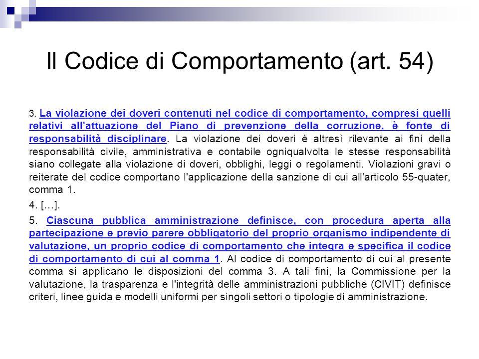 Il Codice di Comportamento (art. 54)