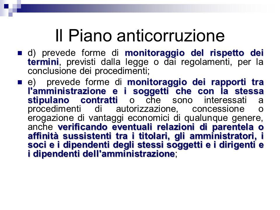 Il Piano anticorruzione