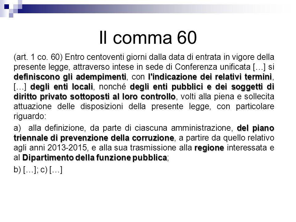 Il comma 60