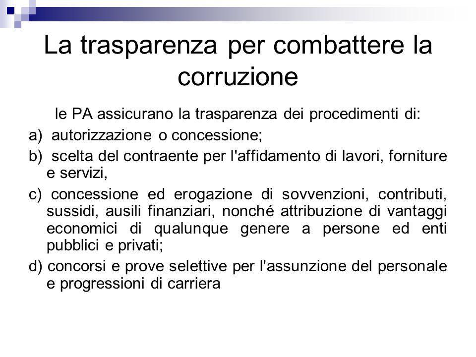 La trasparenza per combattere la corruzione