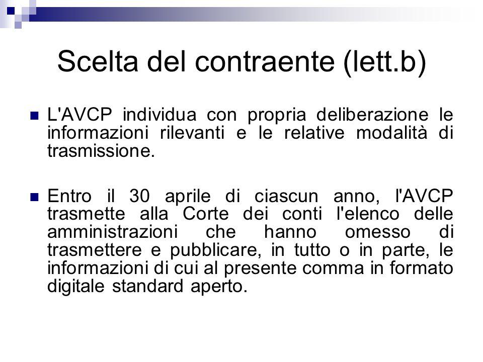 Scelta del contraente (lett.b)
