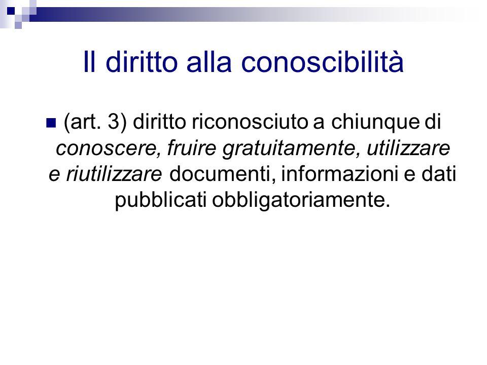Il diritto alla conoscibilità