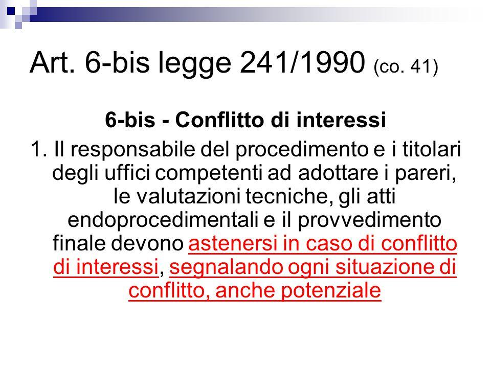 6-bis - Conflitto di interessi