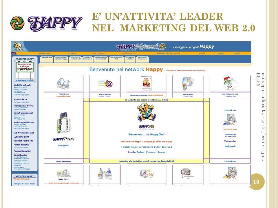 E' UN'ATTIVITA' LEADER NEL MARKETING DEL WEB 2.0