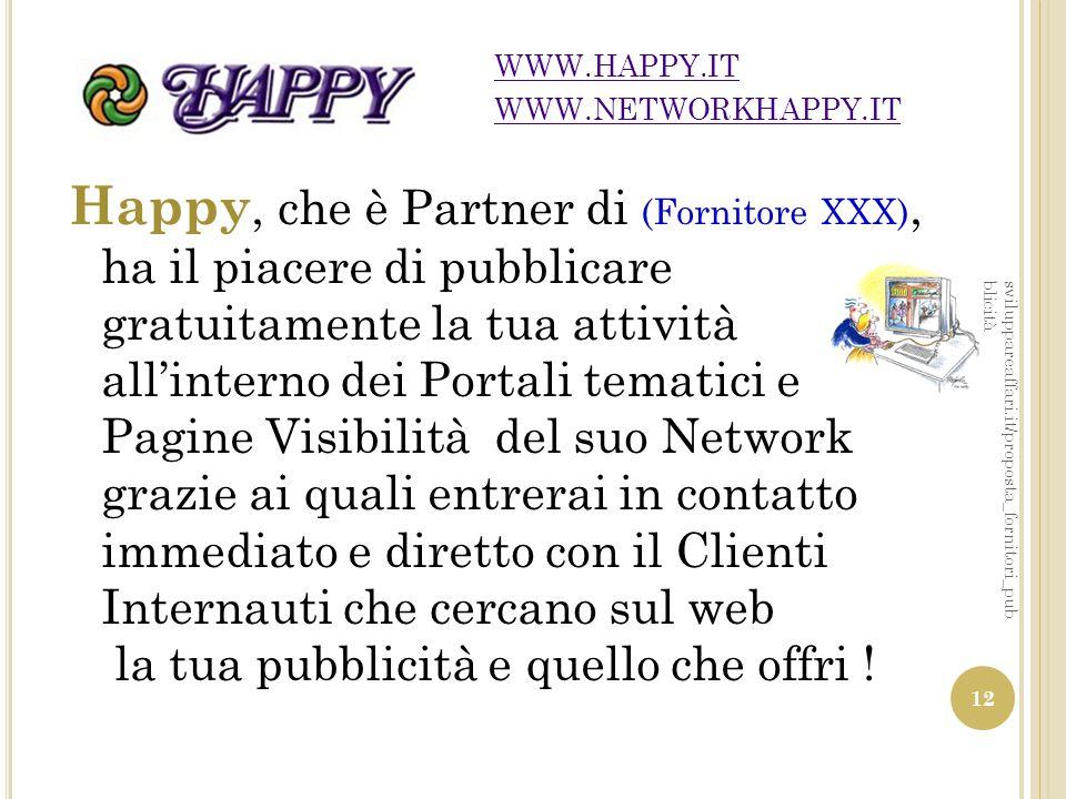 WWW.HAPPY.IT WWW.NETWORKHAPPY.IT