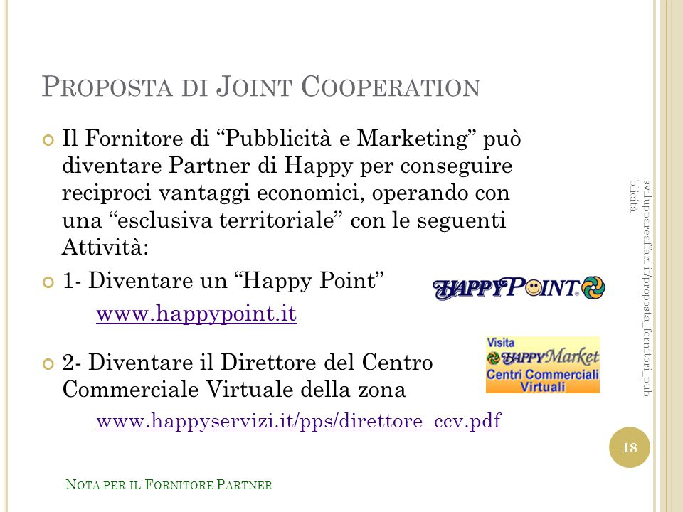 Proposta di Joint Cooperation