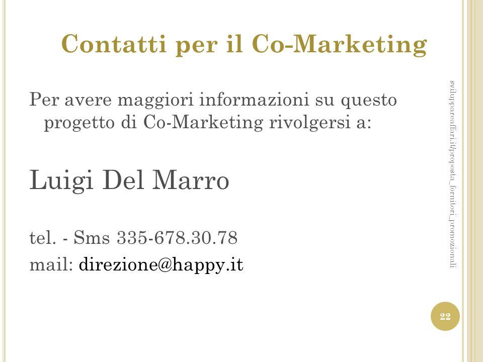 Contatti per il Co-Marketing