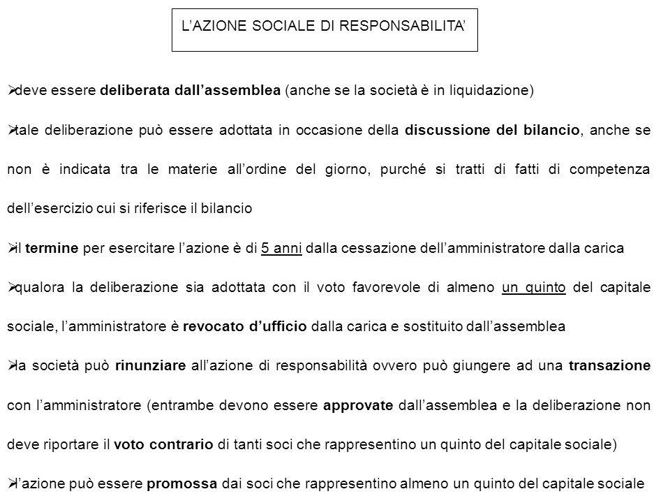 L'AZIONE SOCIALE DI RESPONSABILITA'