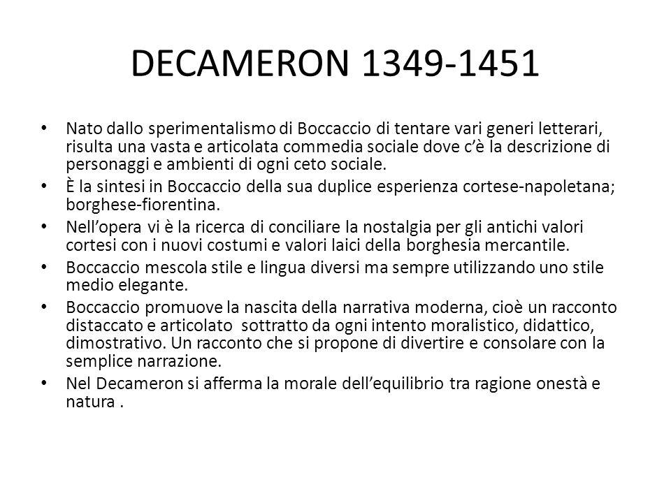 DECAMERON 1349-1451