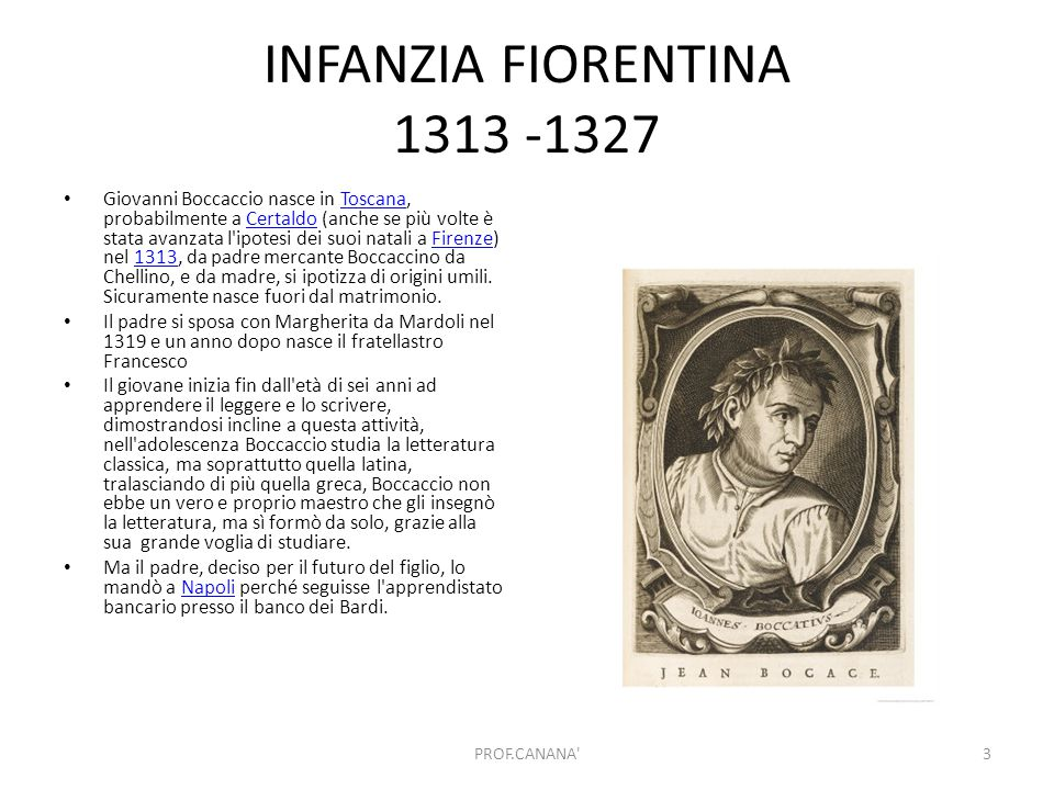 INFANZIA FIORENTINA 1313 -1327
