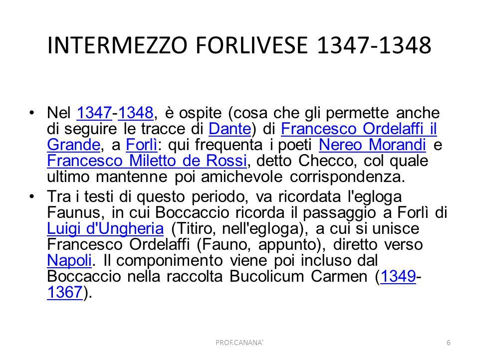 INTERMEZZO FORLIVESE 1347-1348