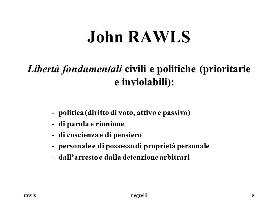 Libertà fondamentali civili e politiche (prioritarie e inviolabili):