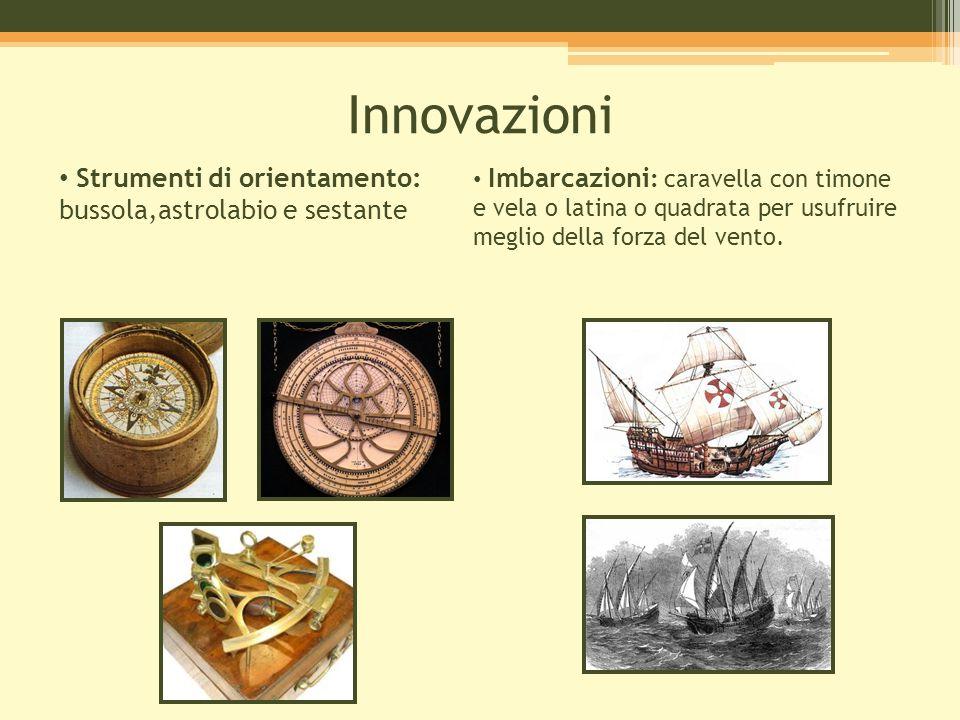 Innovazioni Strumenti di orientamento: bussola,astrolabio e sestante