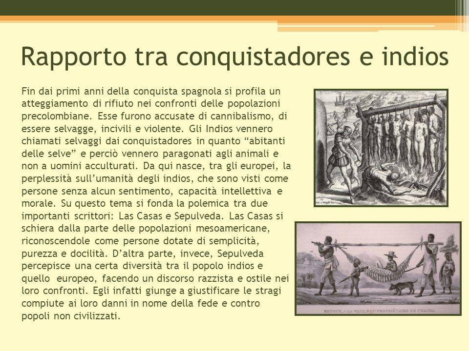 Rapporto tra conquistadores e indios