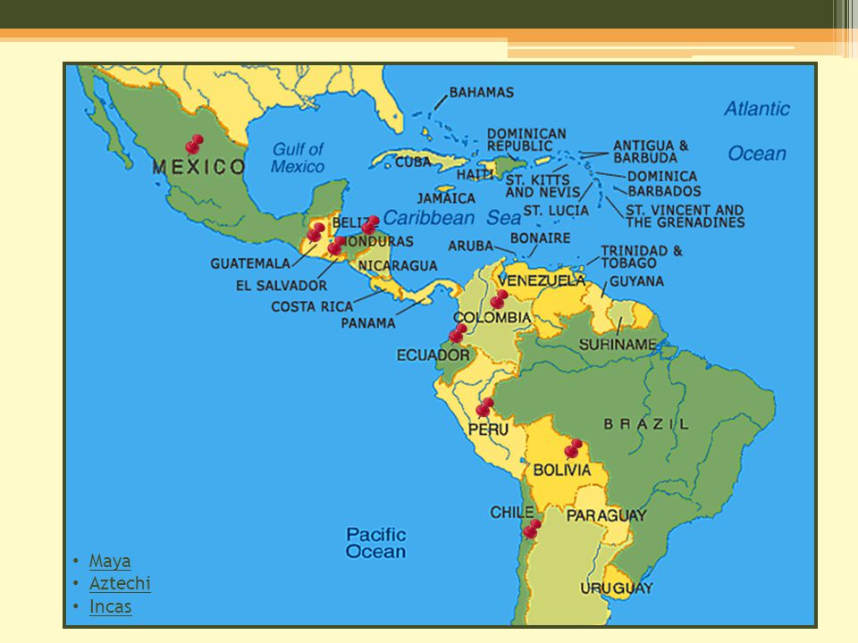 Maya Aztechi Incas