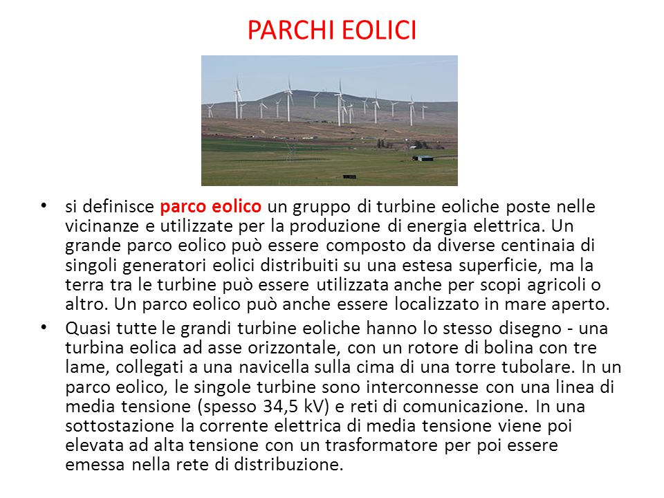 PARCHI EOLICI