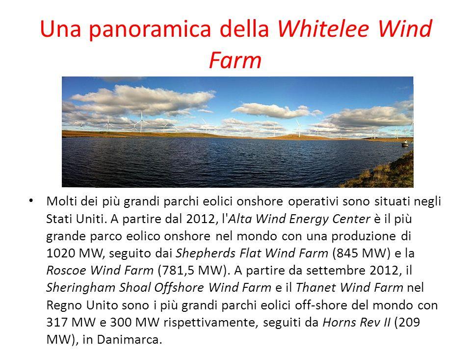 Una panoramica della Whitelee Wind Farm