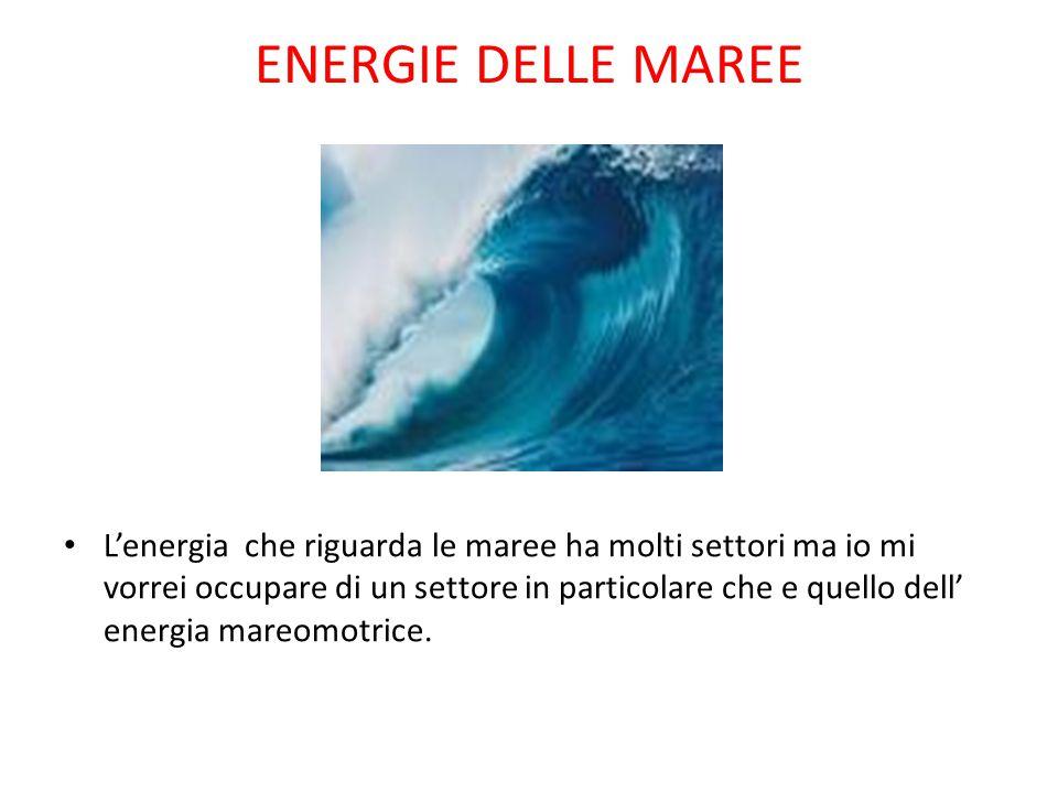 ENERGIE DELLE MAREE