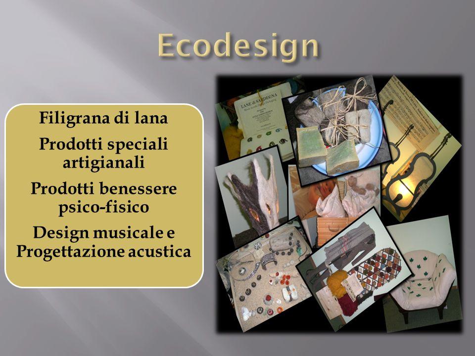 Ecodesign Filigrana di lana Prodotti speciali artigianali