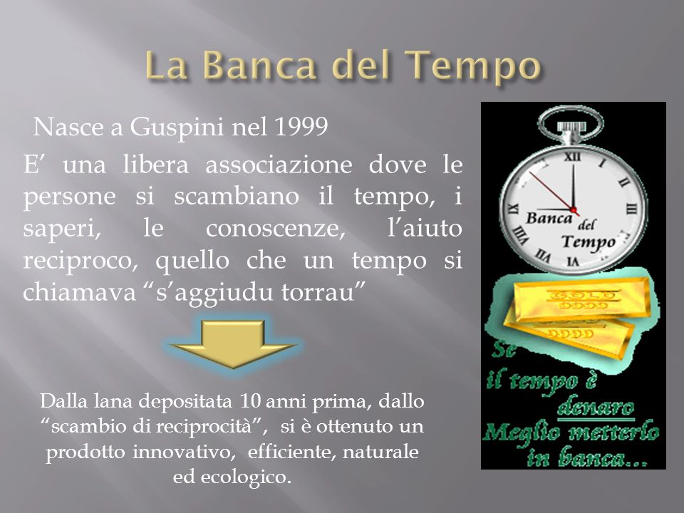 La Banca del Tempo Nasce a Guspini nel 1999