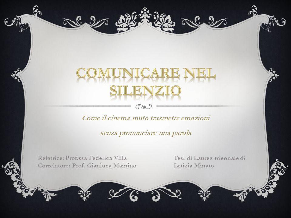 COMUNICARE NEL SILENZIO