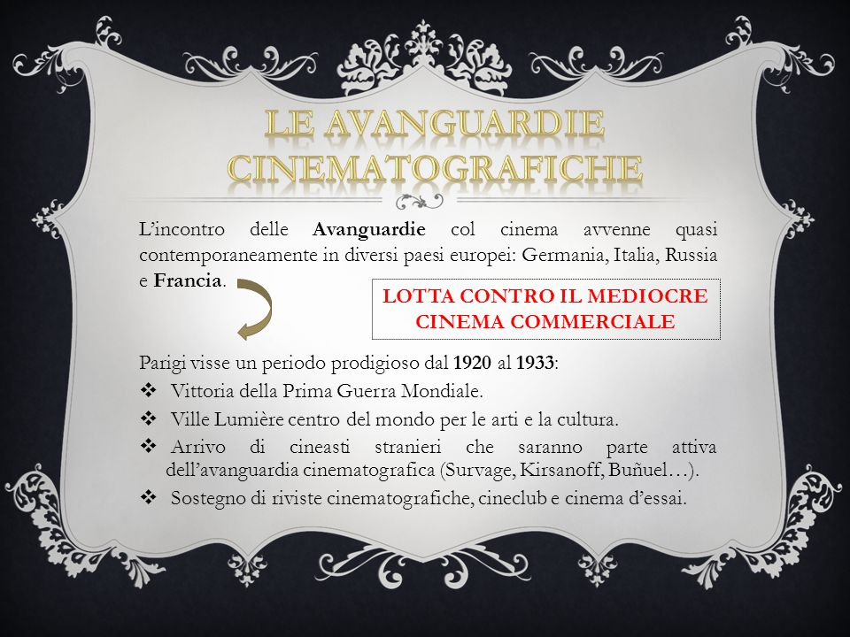 le avanguardie cinematografiche