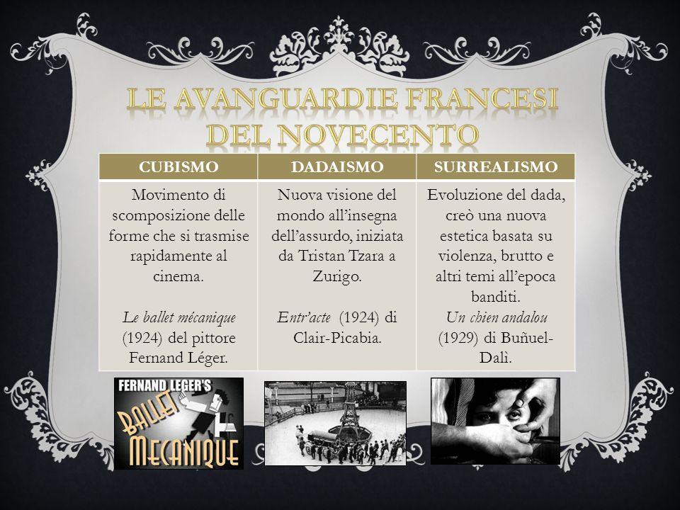 LE Avanguardie FRANCESI del novecento