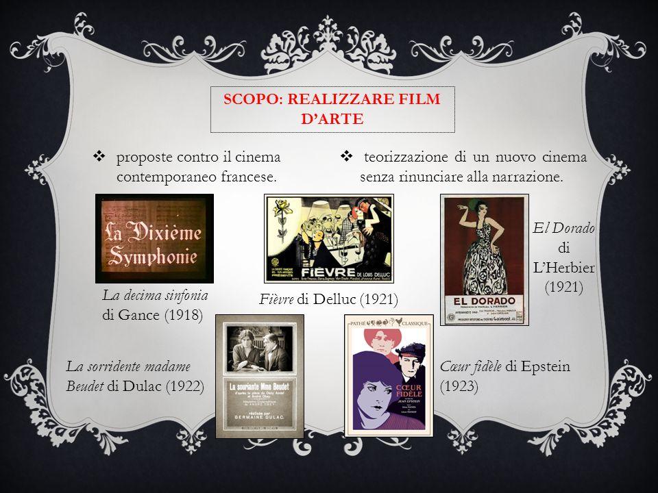 SCOPO: REALIZZARE FILM D'ARTE