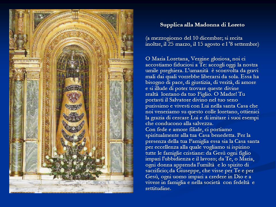 Supplica alla Madonna di Loreto