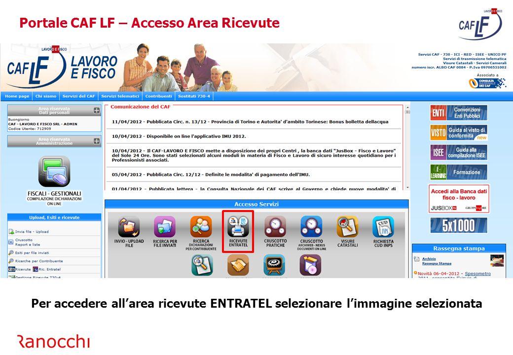 Portale CAF LF – Accesso Area Ricevute